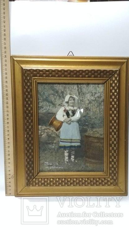 Старинная фотография с подресовкой, фото №2