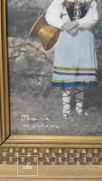Старинная фотография с подресовкой, фото №6