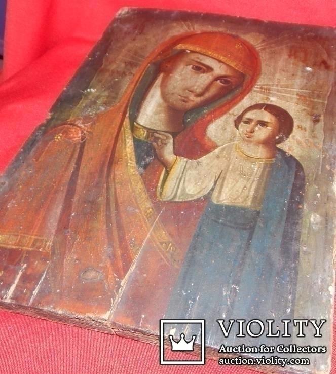 Икона Божьей Матери доска, фото №3