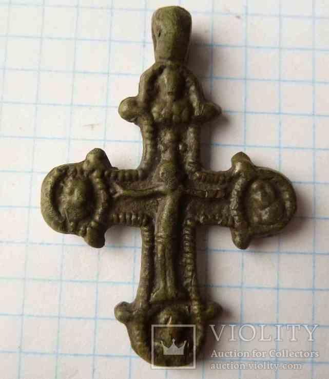Крест КР с распятием (двухсторонний)