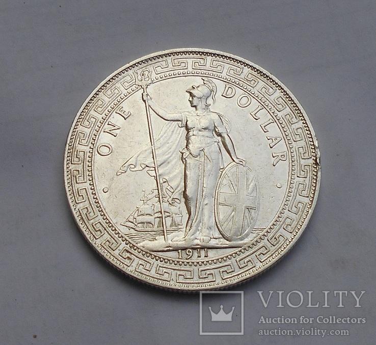 Британия 1 Доллар 1911 (Торговый)