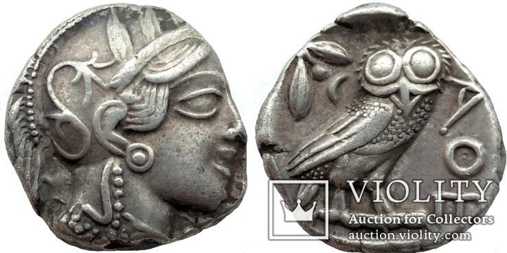 Тетрадрахма Аттика Афины 454-404 гг до н.э. (76_21)