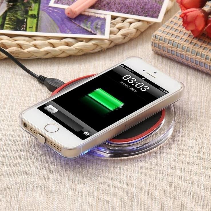 Универсальное беспроводное зарядное устройство на iPhone 5s 5C 6 6c 7plus 7
