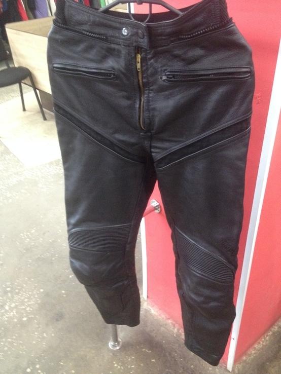 Кожаные байкирские штаны размер 36
