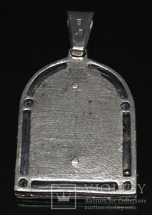 Кулон-ладанка, цирконы, фото №3