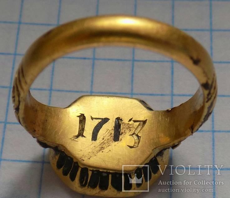 Перстень печать польских дворян(золото . сердолик )16-17век