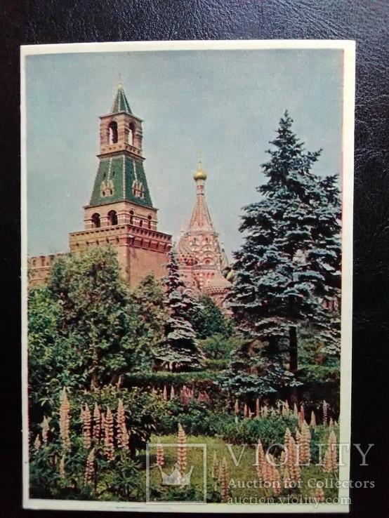 """Открытка """"Набатная башня Московского Кремля"""" (1957)"""