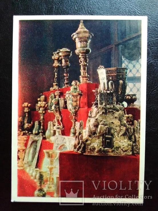 """Открытка """"Серебряные изделия Гамбургской работы"""" (1957)"""