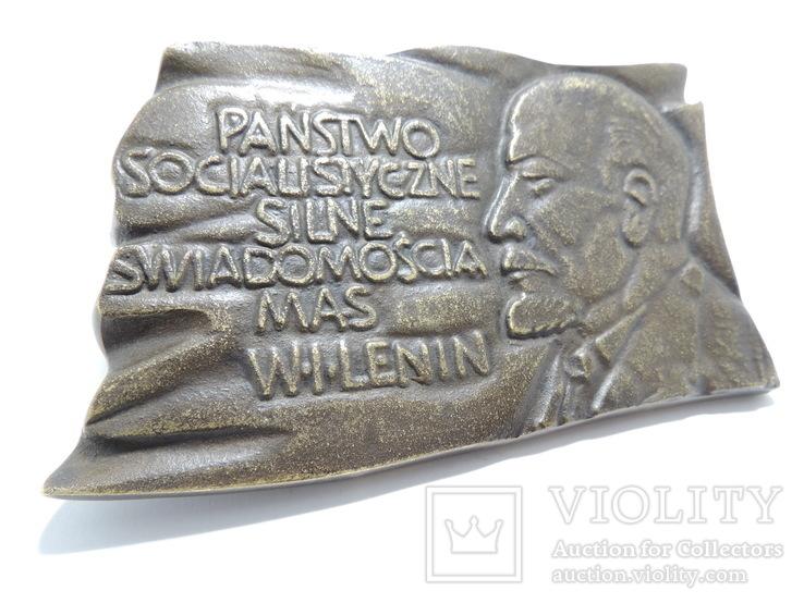 Польша. Ленин, барельеф 0,5 кг, фото №3