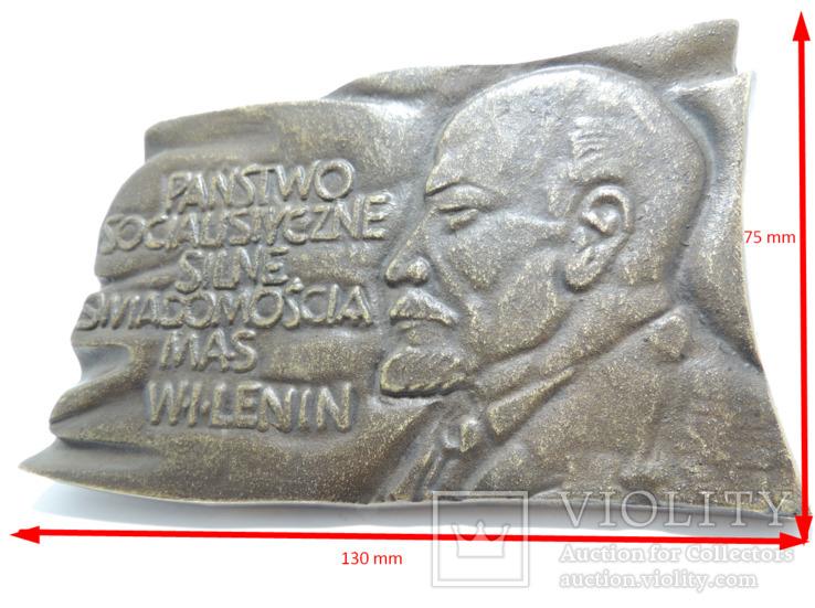 Польша. Ленин, барельеф 0,5 кг, фото №8