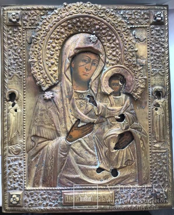 Богородица шикарного письма в окладе