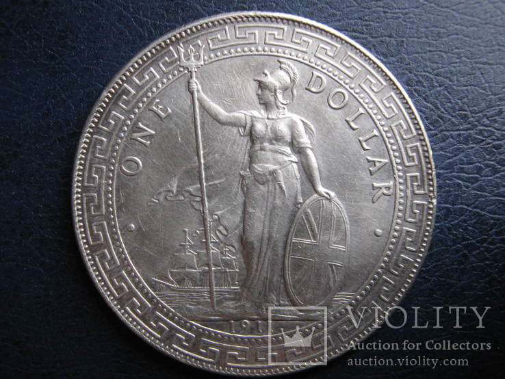 Британия. 1 Доллар 1911 \Торговый\