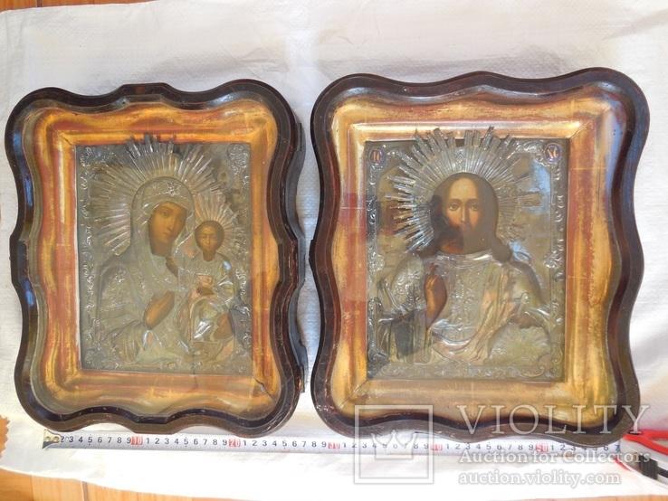 2 иконы в серебряных окладах 1844 года