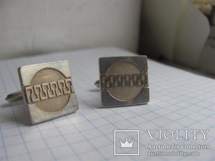 Запонки Серебро 925пр . Европа, фото №4