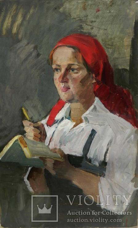 Картина портрет Советского работника
