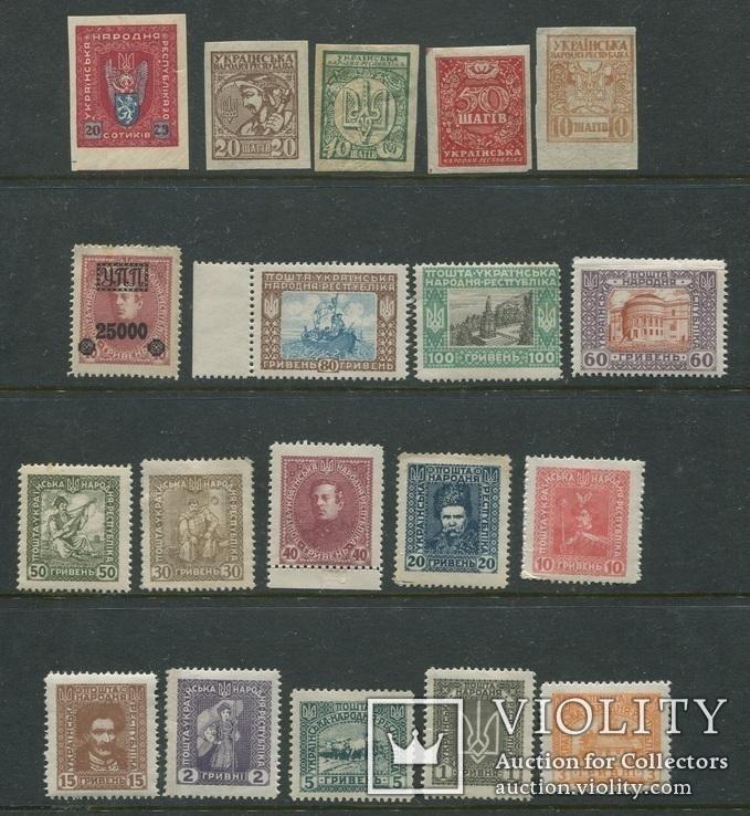 Украина УНР гражданская война лот 19 марок MNH / MH