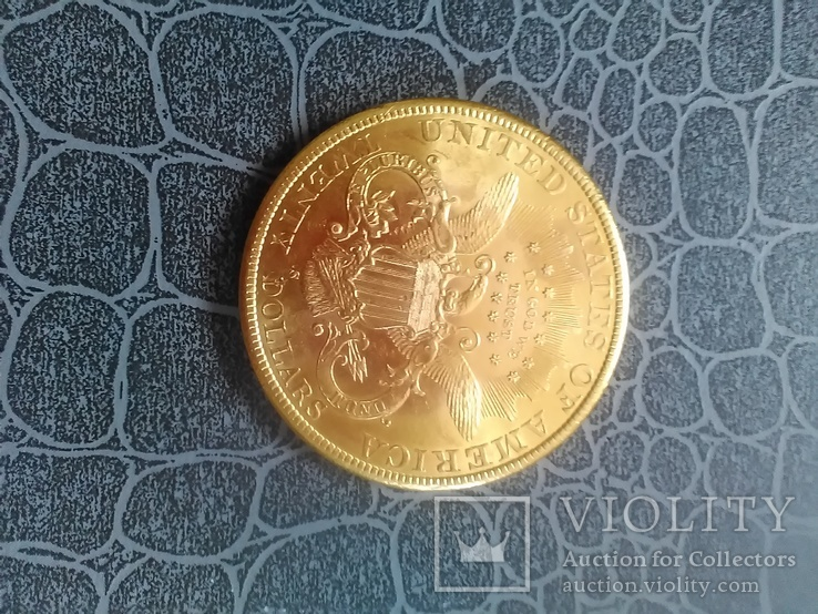 20$ США 1898 року, золото 900 проба.