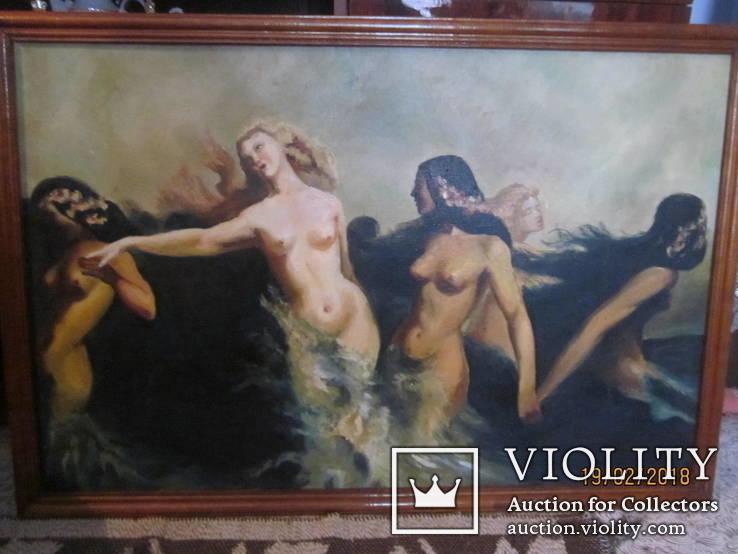 Картина маслом '' Страсть''. 94*64( 1975 г. ) Лозан В. И.