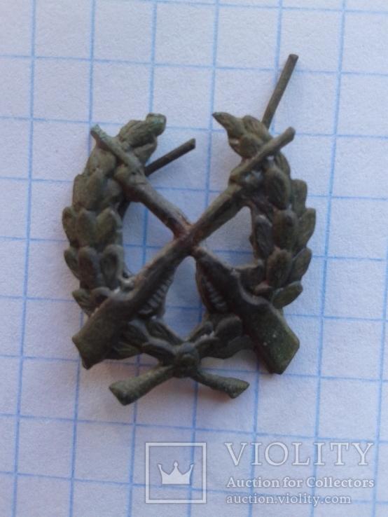 Петличная эмблема пехоты РККА 1922 г.