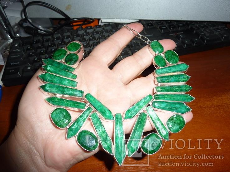 Ожерелье с индийскими изумрудами, фото №4