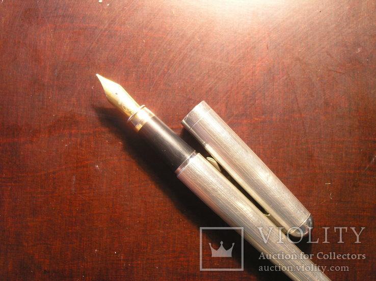 Перьевая ручка серебро 925 перо Иридий, фото №5