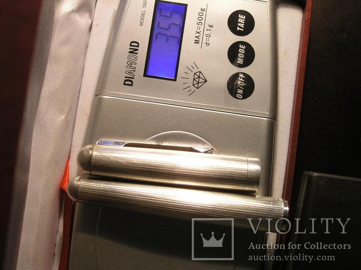 Перьевая ручка серебро 925 перо Иридий, фото №7