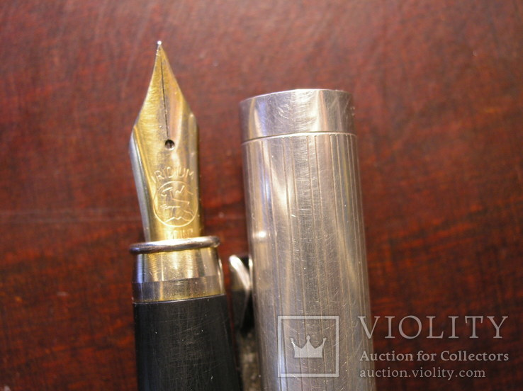 Перьевая ручка серебро 925 перо Иридий, фото №9
