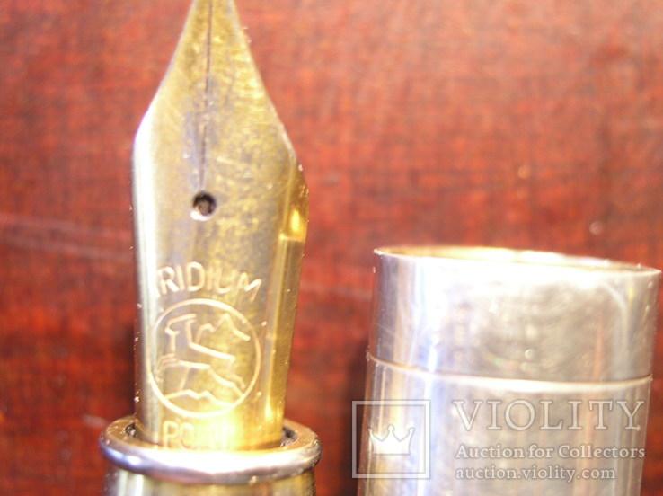 Перьевая ручка серебро 925 перо Иридий, фото №10