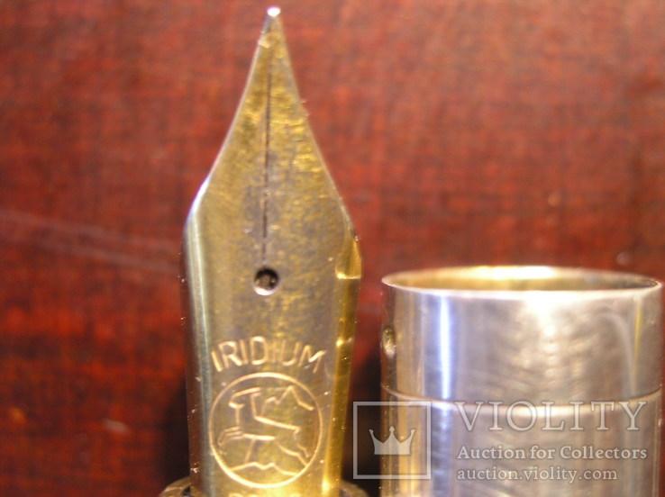 Перьевая ручка серебро 925 перо Иридий, фото №11