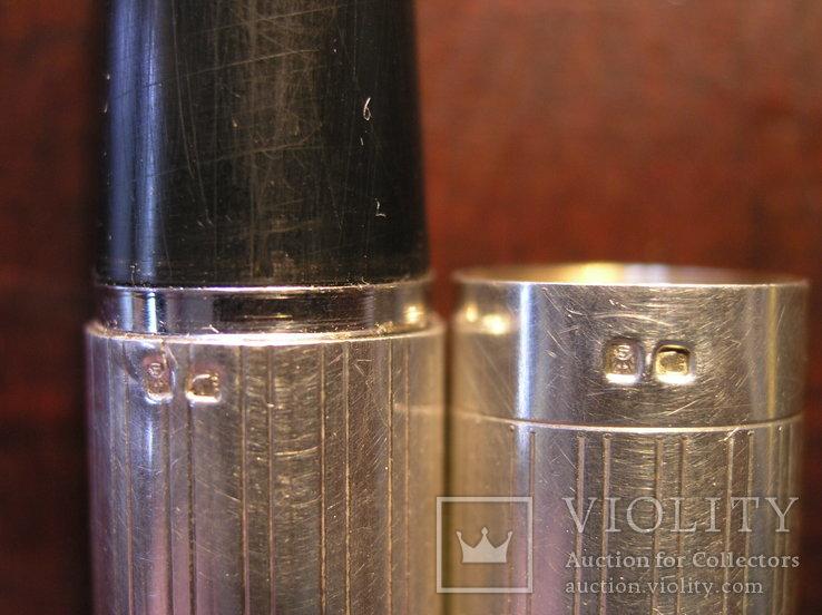 Перьевая ручка серебро 925 перо Иридий, фото №12