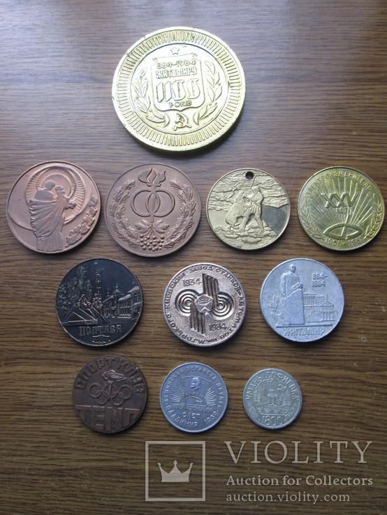 Настольные медали 11 шт, фото №2