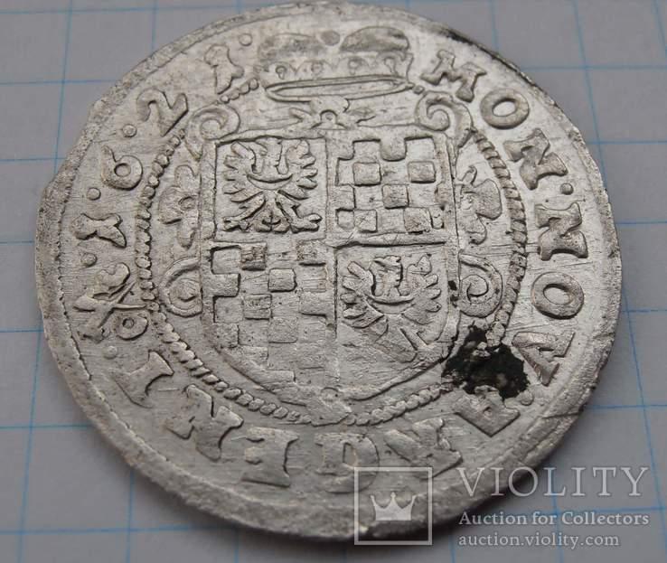 24 крейцера 1621г. Георг Рудольф. Силезия,  графство Лигниц-Бриг.