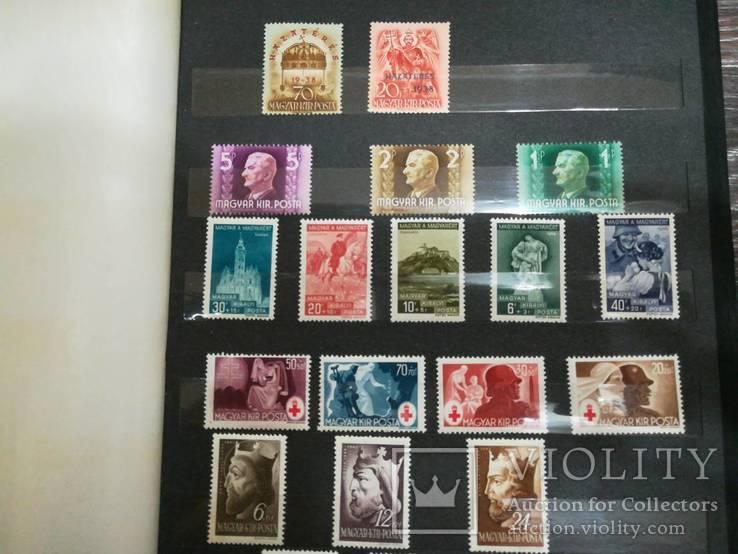 Альбом + коллекция чистых марок старая Венгрия и Австрия