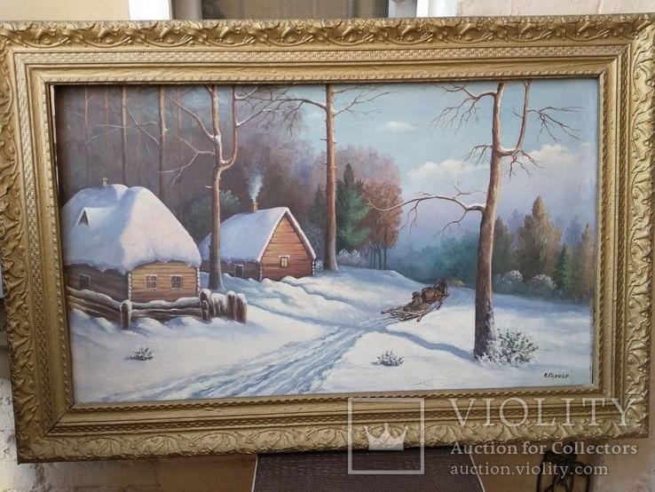 Зимний пейзаж И. Бергер