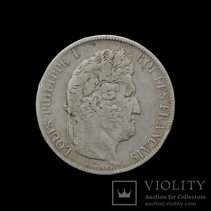 5 Франков 1845 ВВ Луи Филипп, Франция