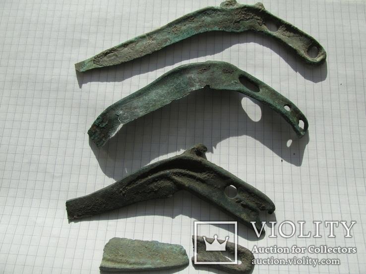 Культура Ноуа,серп карпатского типа-3шт