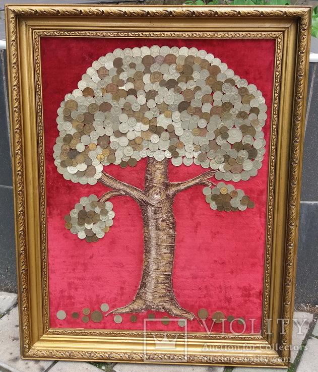 Денежное дерево из монет СССР 68-52 см, фото №2