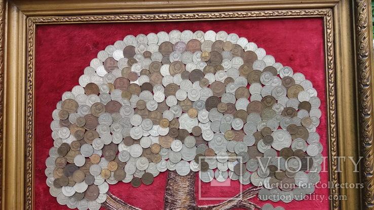 Денежное дерево из монет СССР 68-52 см, фото №3