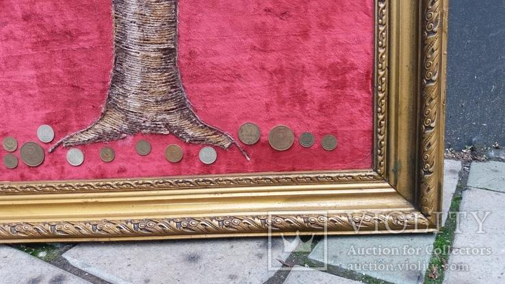 Денежное дерево из монет СССР 68-52 см, фото №6