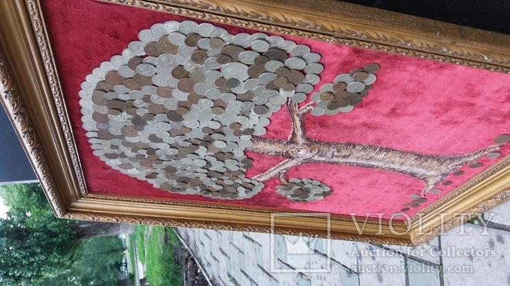 Денежное дерево из монет СССР 68-52 см, фото №8