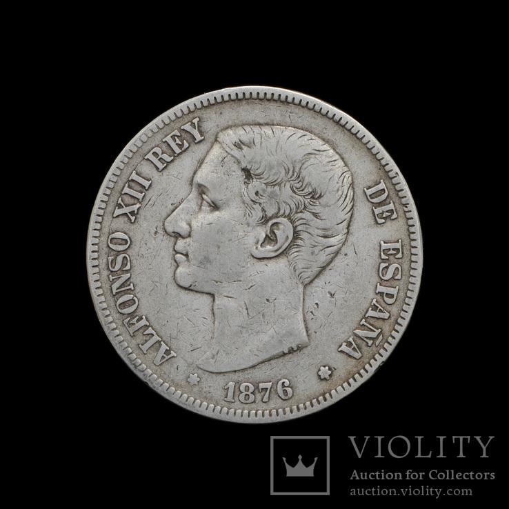 5 Песет 1876, Испания