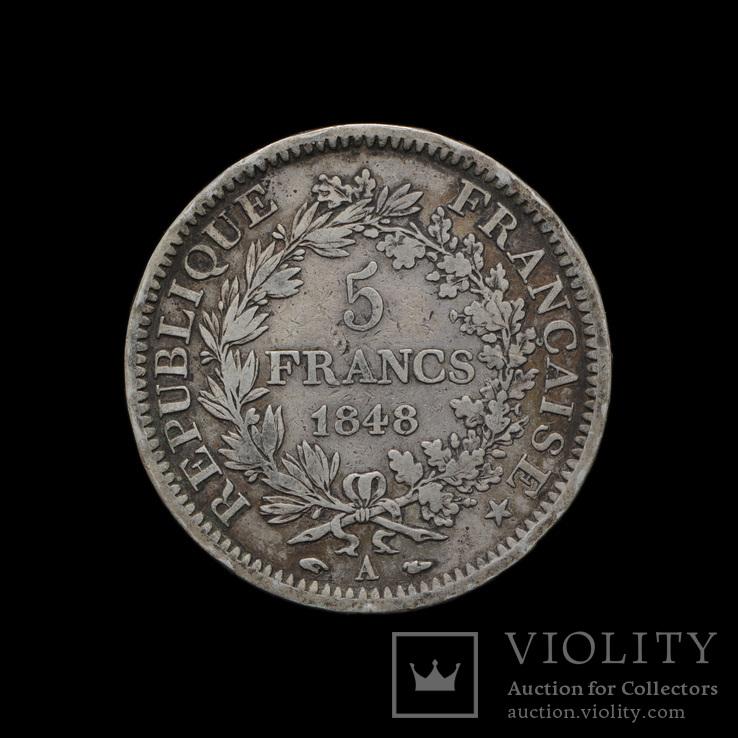 5 Франков 1848 А Геркулес и Музы, Франция