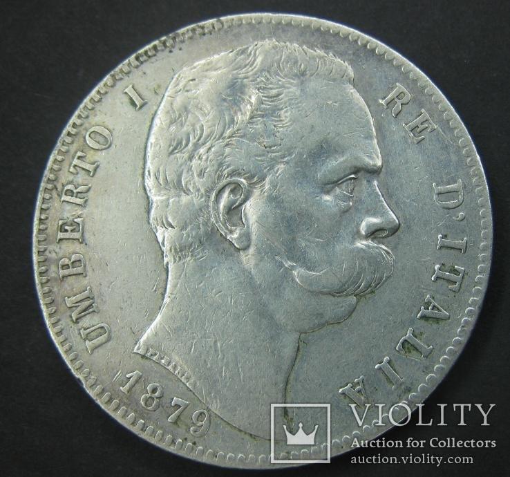 5 лир 1879 5 лир 1879, Умберто 1, Рим