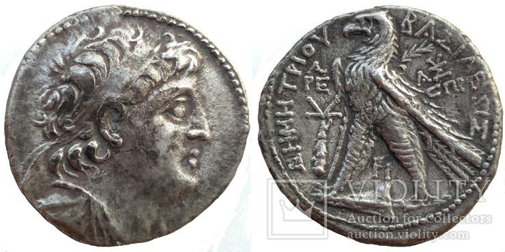 Тетрадрахма Деметрий II мон двор Тир 145-144 гг до н.э. (24_35)