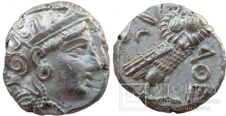 Тетрадрахма Аттика Афины 353-294 гг до н.э. (23_5)