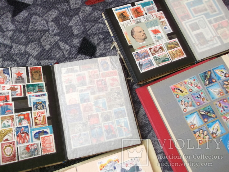 Марки почтовые в альбомах больше 2000 штук, фото №6