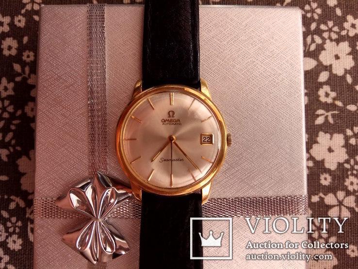 Золотые мужские часы Омега (OMEGA) 750 проба Швейцария