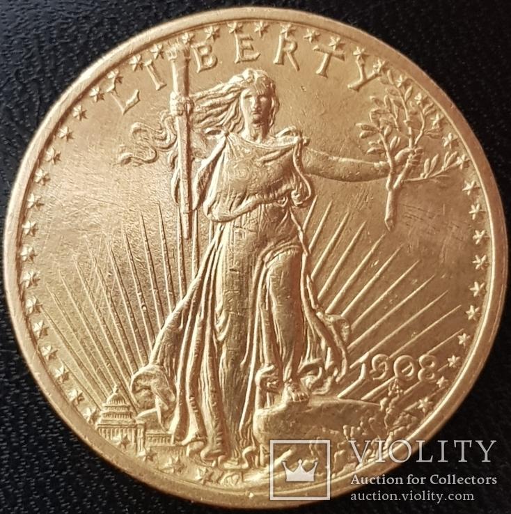 20 долларов 1908 года