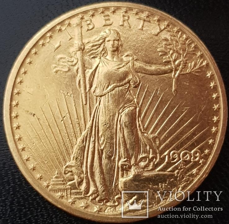 20 долларов 1909 года