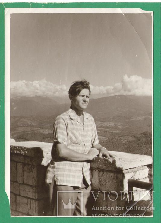 Мужчина Горы Вид на долину, фото №2